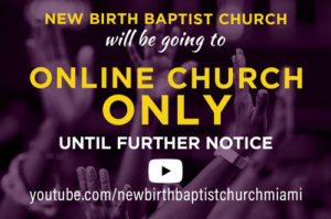 Online Church only button in footer